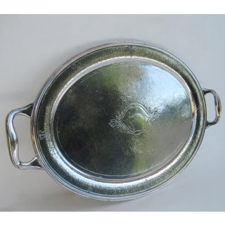 C.1930s Moroccan Style Reed & Barton Silver Plate Hammered Oval-Shaped Grand Serving Tray Preview