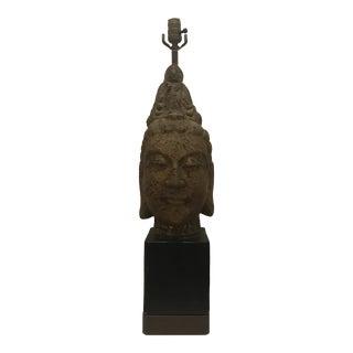 1950s James Mont Mid Century Modern Buddha Head Lamp For Sale