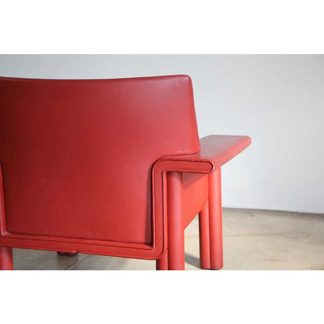 Leather Afra & Tobia Scarpa Leather Lounge Chair For Sale - Image 7 of 13