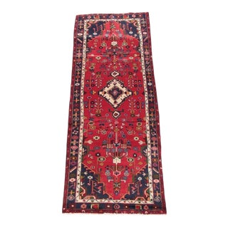1940s Persian Hand Knotted Runner-3′3″ × 9′ For Sale