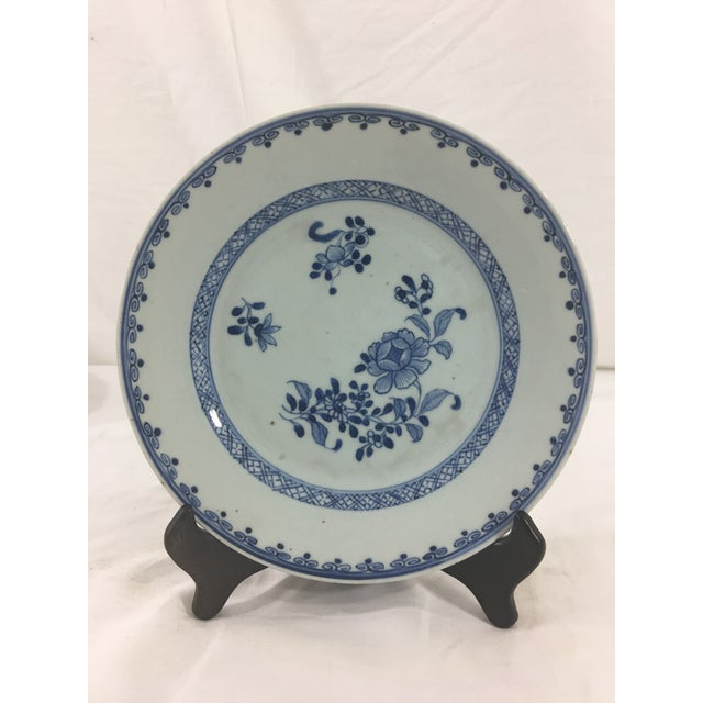 Early 19th Century Chinese Export Blue Celadon Plate For Sale - Image 4 of 4