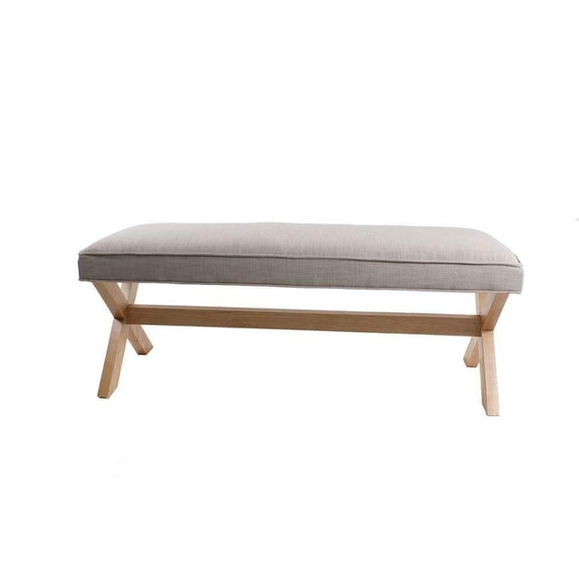 X-Wood Base and Upholstered Top Bench - Image 2 of 3
