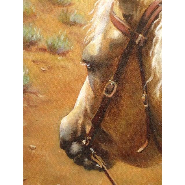 """Ute Simon """"Desert Trail"""" Horse Painting - Image 4 of 7"""