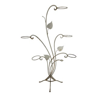 Vintage Modern Salterini Wrought Iron Plant Stand For Sale