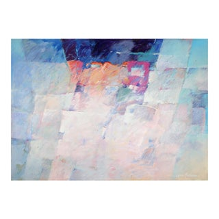 Abstract Composition, Large Oil Painting by Balderson