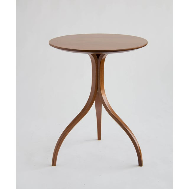 Spider Leg Walnut Side Table - Image 4 of 8