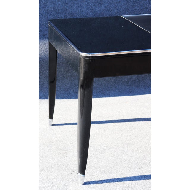 Black Ralph Lauren One Fifth Paris Bureau Plat Writing Table Desk For Sale - Image 10 of 11