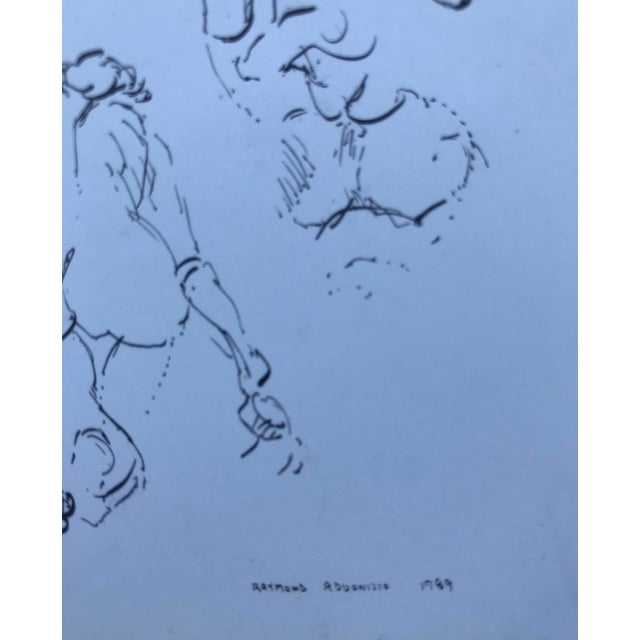 Contemporary Modern Nude Figure Studies Drawing For Sale - Image 3 of 4