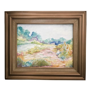 "Christy Almond ""Summer Fields"" Original Watercolor Painting"