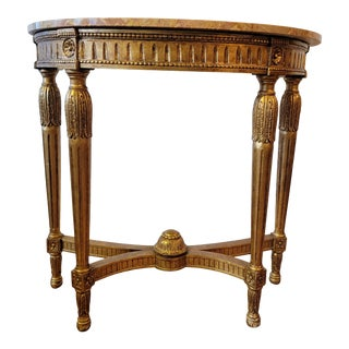 Early 20th Century Giltwood Demi-Lune From Waldorf Astoria For Sale