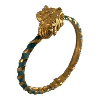 Vintage Hattie Carnegie Tigers Clamp Bracelet For Sale