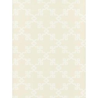 Scalamandre Suzhou Lattice, Alabaster Wallpaper For Sale