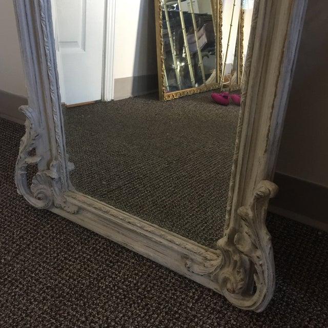 Grey Relief Beveled Floor Mirror For Sale In Atlanta - Image 6 of 7