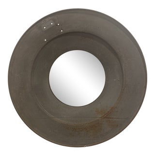 Industrial Round Wall Mirror For Sale