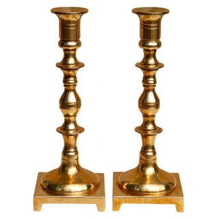 Vintage Brass Candle Holders - A Pair