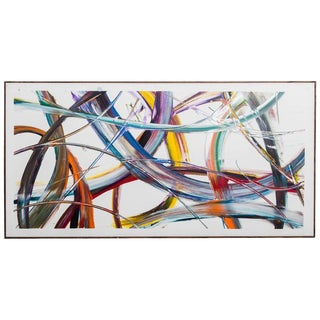 Late 20th Century Framed Abstract Painting For Sale