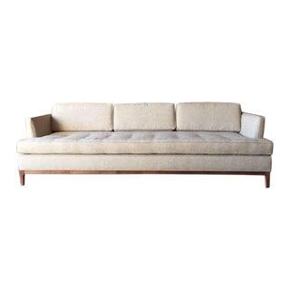 Mid-Century Style Oatmeal Custom Sofa For Sale