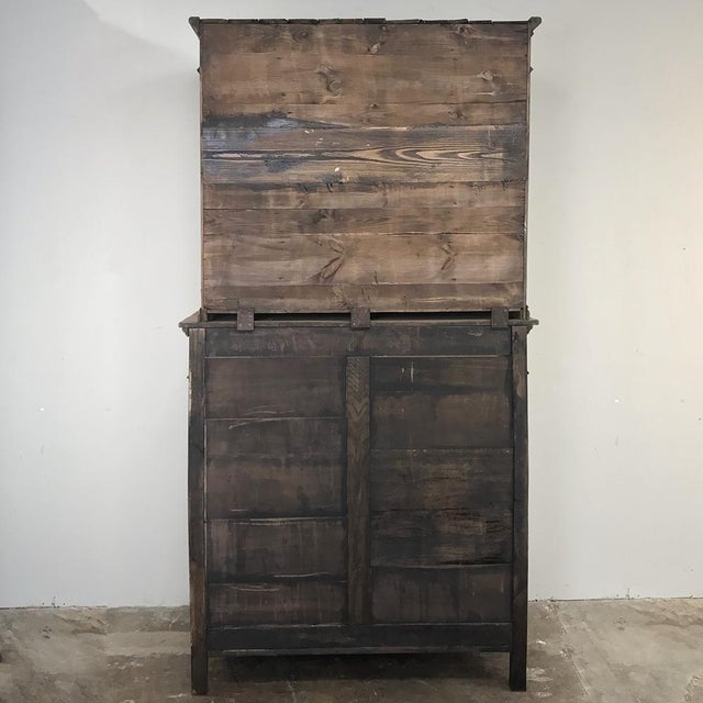 19th Century Country French Stripped Louis XVI Vitrine - Cabinet For Sale - Image 12 of 13