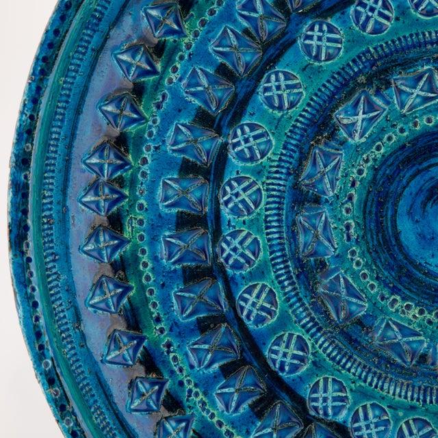 """1960s """"Rimini Blu"""" Ceramic Platter by Aldo Londi for Bitossi, Circa 1960s For Sale - Image 5 of 13"""