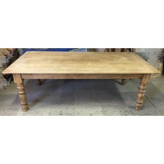 Italian Bleached Cherry Farmhouse Table Preview