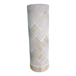 Cerused Split Reed Pedestal For Sale