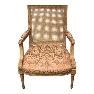 Vintage French Style Caned Back Side Chair