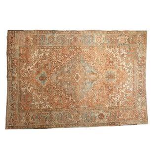 "Vintage Distressed Heriz Carpet - 6'2"" X 8'9"" For Sale"
