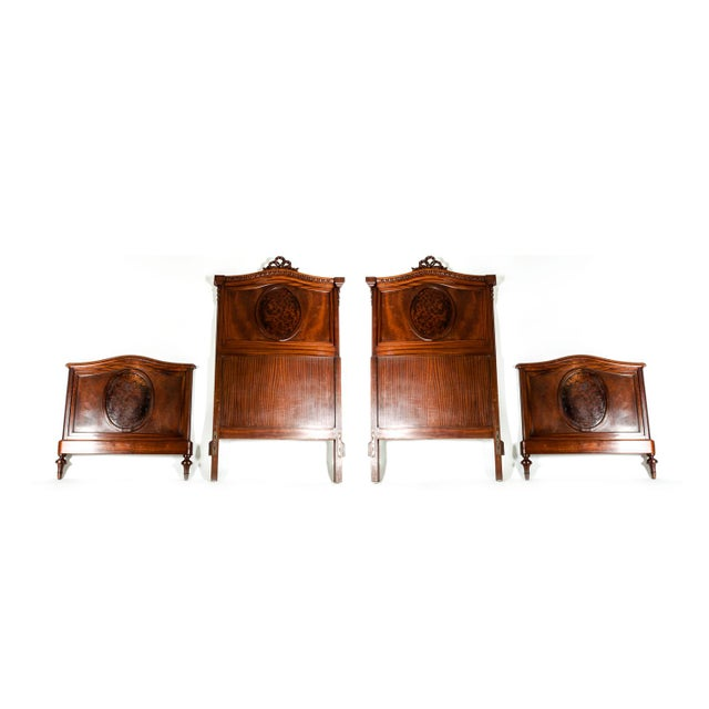 Burlwood 19th C. French Burl Walnut Single Beds For Sale - Image 7 of 8