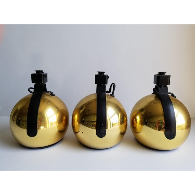 Mid-Century Modern Juno Brass Track Lights - Set of 3 - Image 3 of 11
