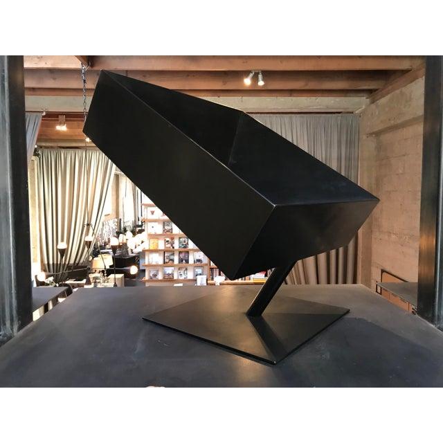 "Stephane Ducatteau Stephane Ducatteau Modernist ""Cadre"" Steel Chair For Sale - Image 4 of 8"
