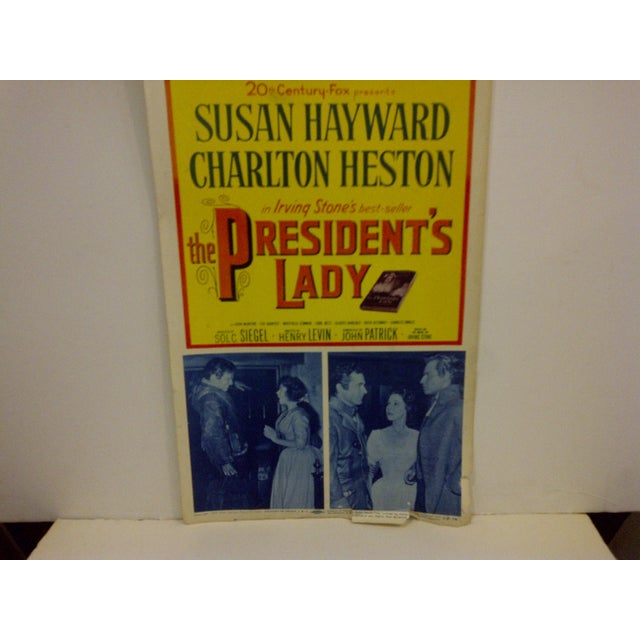 """Vintage Movie Poster """"The Presidents Lady"""" Charlton Heston - 1953 For Sale - Image 5 of 7"""