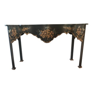 Chinese Inspired Vaughan Mahogany Console Table For Sale