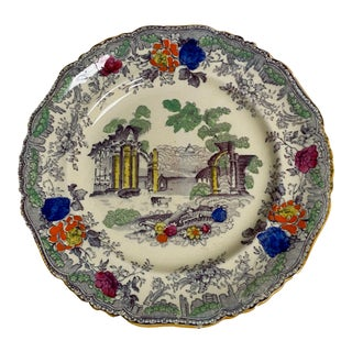 Green Mason's Ironstone China Plate For Sale