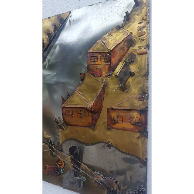 Curtis Jere Style Landscape Abstract Wall Sculpture . - Image 6 of 11