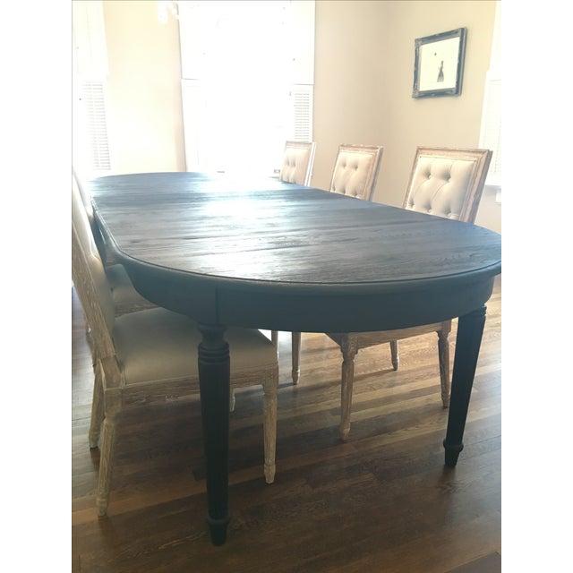Restoration Hardware Black Dining Table - Image 4 of 7