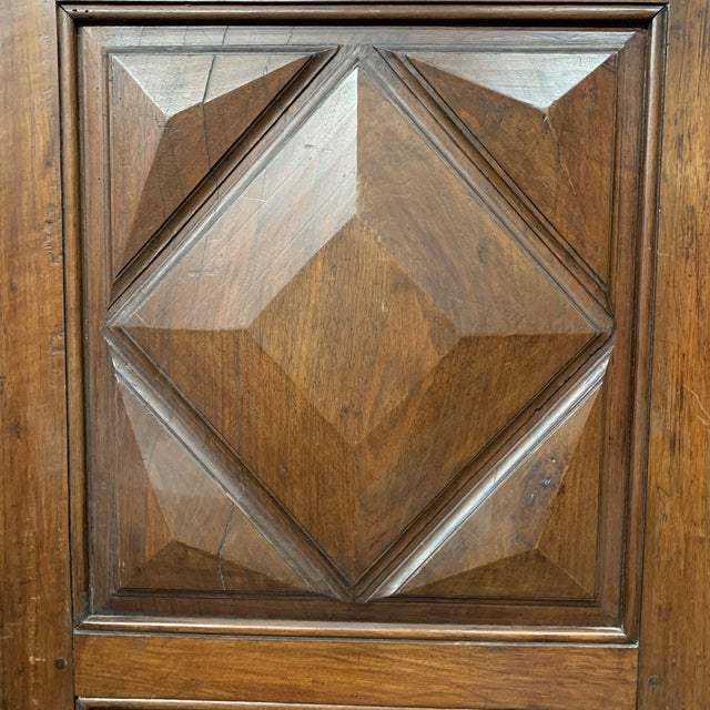 Late 18th C Antique French Oak Armoire Doors - a Pair For Sale - Image 10 of 13