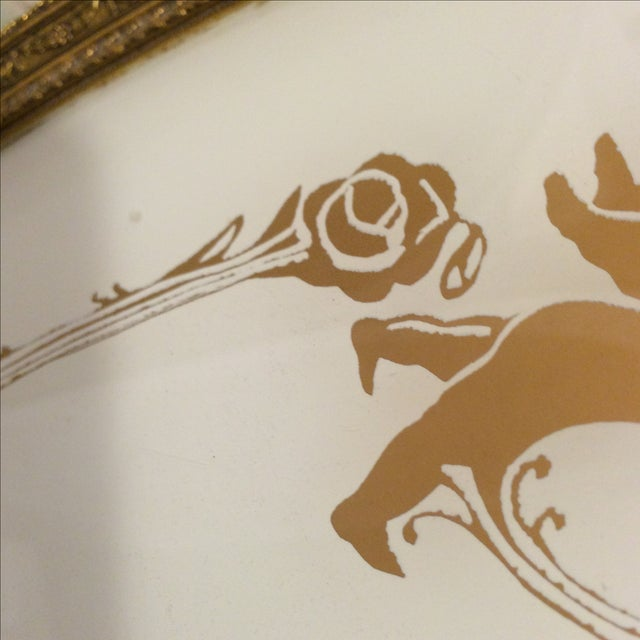Cherub and Rose Stenciled Serving Tray - Image 8 of 8