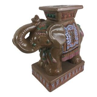 Vintage Elephant Garden Seat For Sale