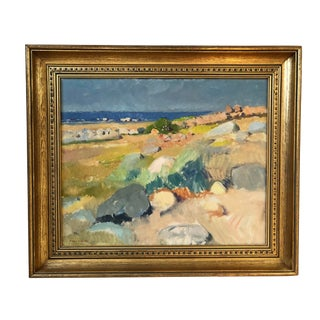 1940s Vintage Swedish Painting by Gunnar Wallentin For Sale