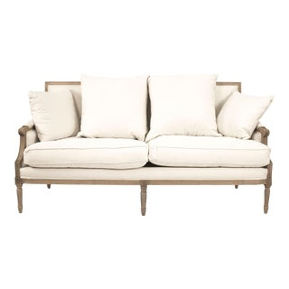 Audley Sofa in White For Sale
