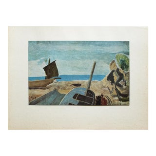 """1940s Georges Braque, """"Marine"""" Original Period Swiss Lithograph For Sale"""