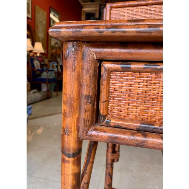 Japanoise Bloomingdale's Bamboo Writing Desk For Sale - Image 10 of 11