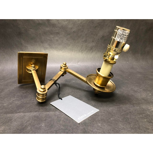 Traditional Studio Vc for E. F. Chapman Triple Swing Arm Wall Lamp For Sale - Image 3 of 7