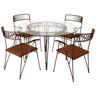 Maurizio Tempestini for Salterini Patio Table and Chairs For Sale
