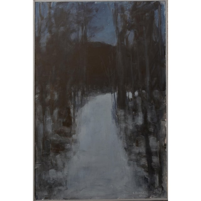 Inspired by walking snow-covered paths in the evening. The trails seemingly glowing with their own source of light,...