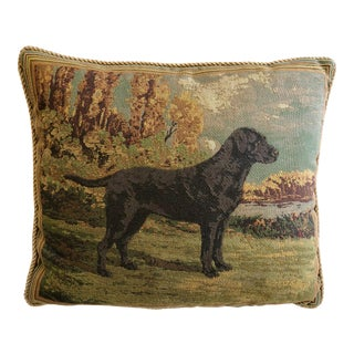 Black Labrador Tapestry Pillow