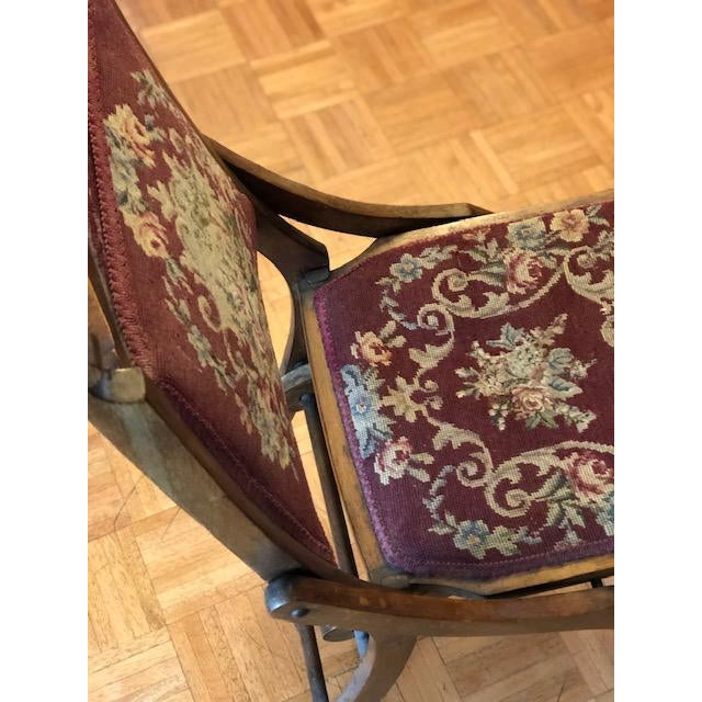 1900s Antique Victorian Tapestry Folding Chair For Sale - Image 9 of 13