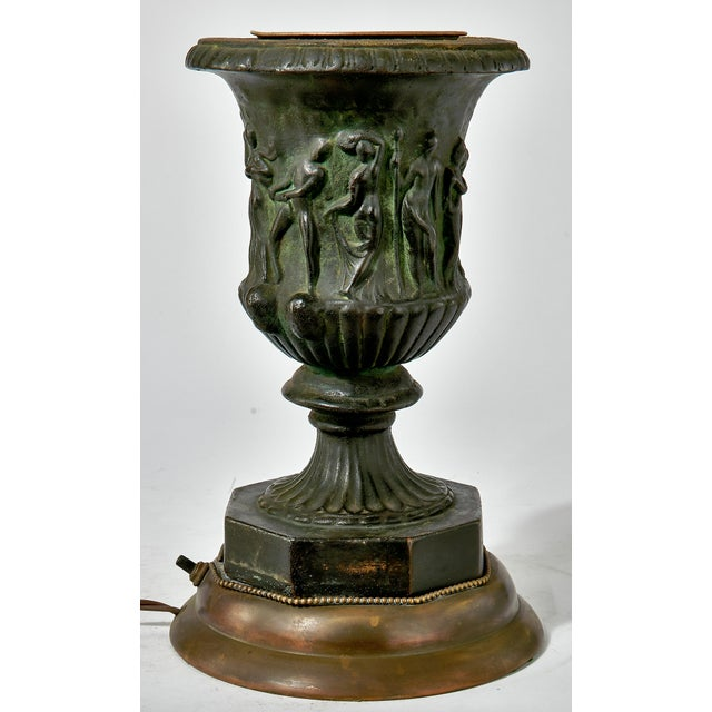 French 19th Century French Bronze Vase Converted Into a Lamp For Sale - Image 3 of 9