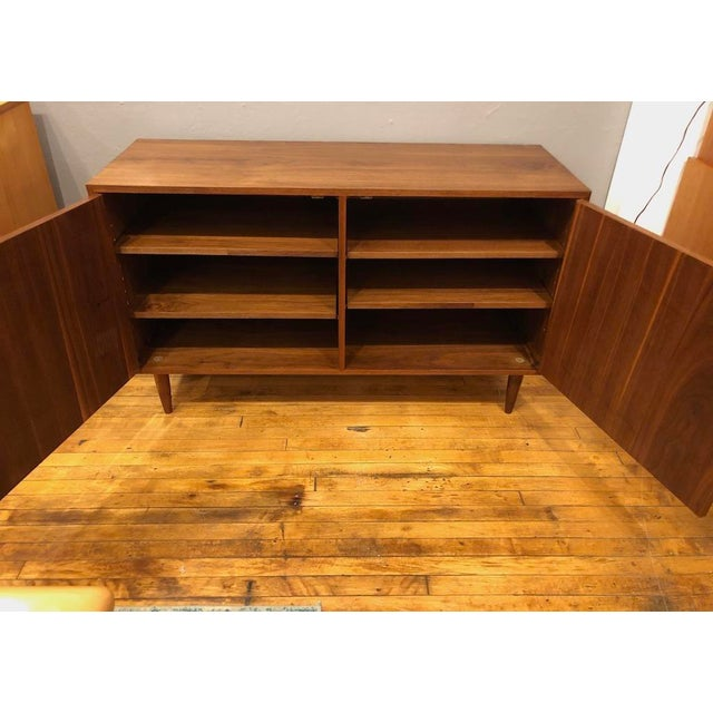 Mid Century Walnut Credenza/Cabinet 1960s For Sale In Boston - Image 6 of 8