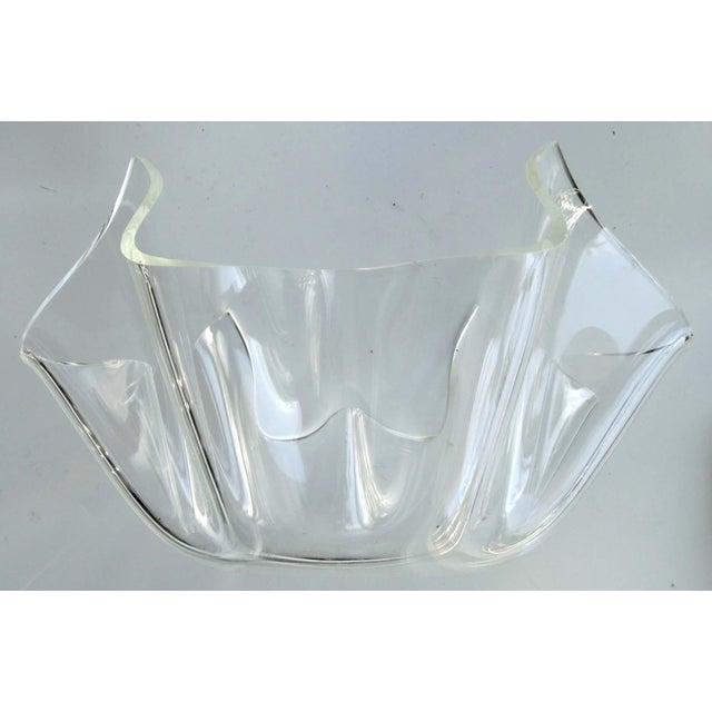 Mid-Century Modern Lucite Handkerchief Bowl - Image 2 of 9